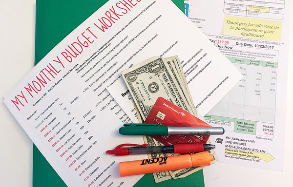monthly budget worksheet a mom with kids