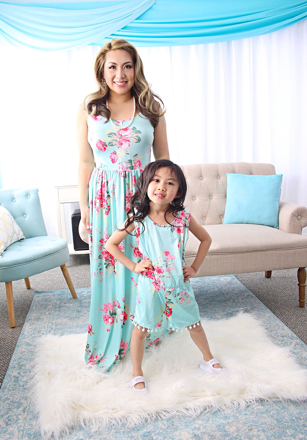 2520c0bf34b53 Mommy & Me Outfit #3 - Floral Maxi Dress & Romper! - A Mom, With Kids